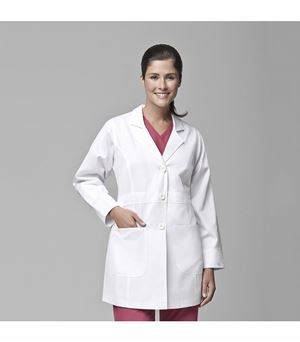Carhartt Women's Long White Lab Coat-C72403