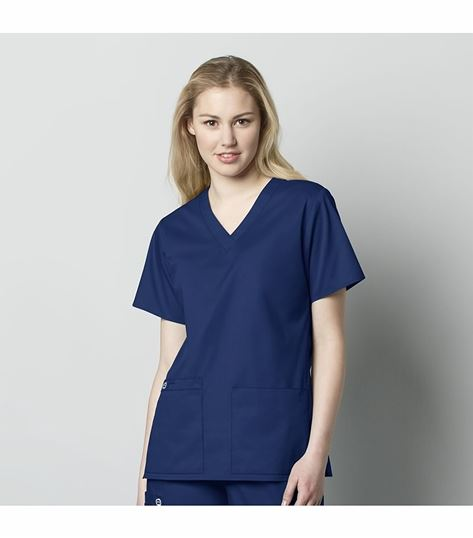 Wonderwink Wonderwork Women's Solid V-Neck Scrub Top-101