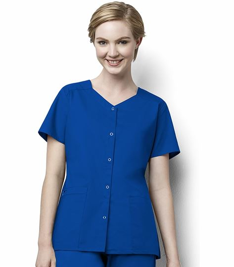 Wonderwink Wonderwork Women's Short Sleeve Scrub Jacket-200
