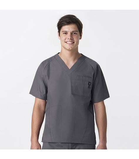 WonderWink Origins Men's Solid Raglan Scrub Top-6716