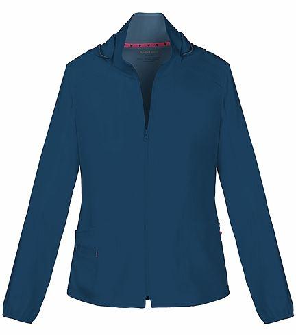 HeartSoul Zip Up Warm-Up Scrub Jacket With Detachable Hood-20310