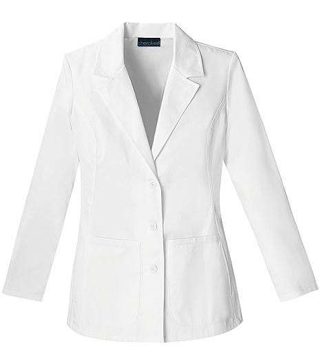 "Cherokee Fashion Women's 28"" White Lab Coat-2317"