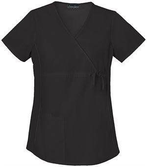Cherokee Flexibles Maternity Mock Wrap Knit Panel Top 2892