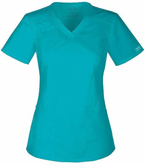 Cherokee WorkWear Core Stretch Women's V-Neck Scrub Top-4710