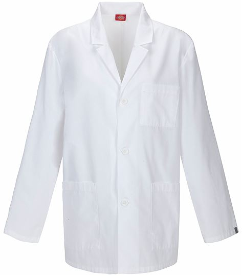 "Dickies EDS 31"" Men's White Antimicrobial Lab Coat-81404A"