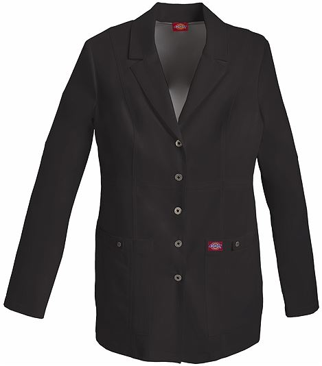 "Dickies Xtreme Stretch Women's 28"" Snap Front Lab Coat-82400"