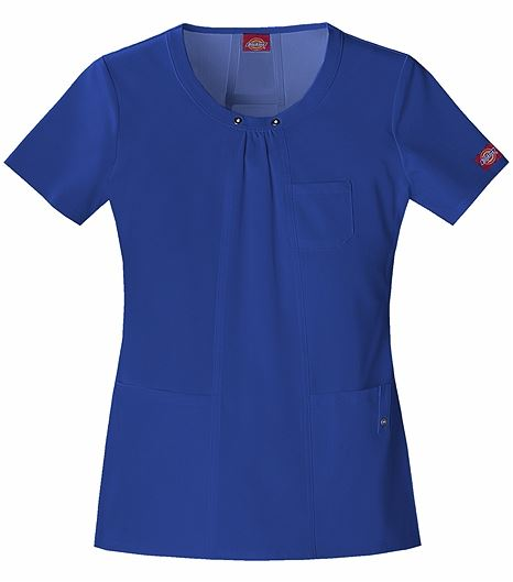 Dickies Xtreme Stretch Women's Round Neck Solid Scrub Top-82850