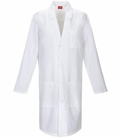 """Dickies EDS 40"""" Unisex White Lab Coat-83403"""