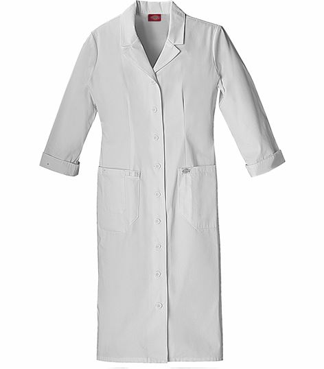 Dickies EDS Women's White Button Front Nurse Scrub Dress-84503