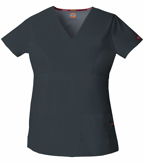 Dickies EDS Signature Women's Mock Wrap Solid Scrub Top-85820