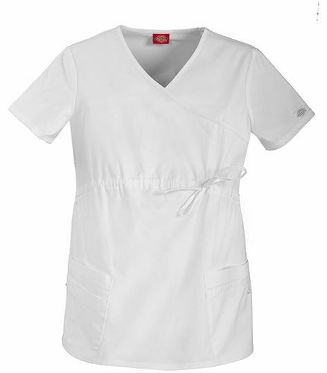 aa46ceb64f8 Dickies GenFlex Maternity Mock Wrap Top 85900 | Medical Scrubs Collection