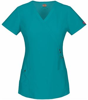 Dickies Xtreme Stretch Women's Mock Wrap Scrub Top-85956