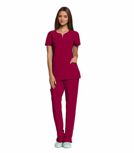 Grey's Anatomy Signature Women's Notched Neck Solid ScrubTop-2121