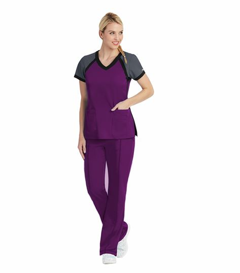 Grey's Anatomy Active Women's Raglan Scuba V-Neck Scrub Top-41435