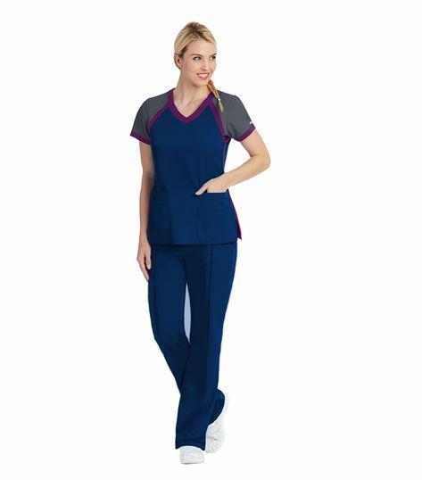 Grey's Anatomy Active Women's Raglan Scuba V-Neck Scrub Top-41435