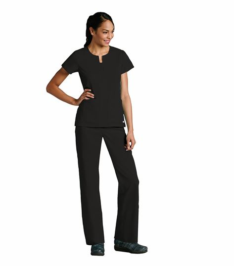 Grey's Anatomy Women's Notched Neck Solid Scrub Top-41445