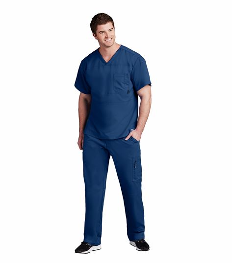 Grey's Anatomy Active Men's  V-Neck Scrub Top-0116