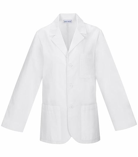 "Med-Man 31"" Men's Antimicrobial Lab Coat-1389AB"