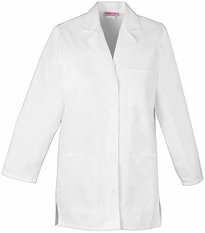 "Cherokee Women's 32"" White Lab Coat-1462"