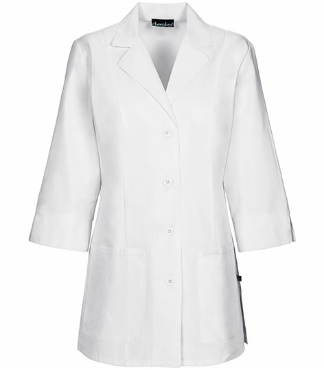 "Cherokee Women's 30"" 3/4 Sleeve White Lab Coat-1470"
