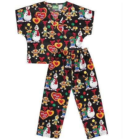 Disney Kids Cartoon Scrub Set With Top & Pants-6620C