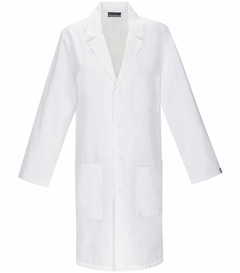 "Cherokee Unisex 40"" White Antimicrobial Lab Coat-1346A"