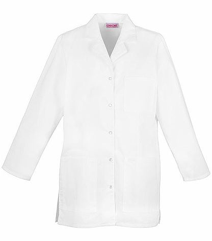 "Cherokee Women's 32"" Snap Front White Lab Coat-1369"