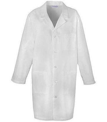 "Med-Man 40"" Men's Notched Collar White Lab Coat-1388"
