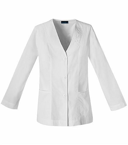 Cherokee Women's Button Up Embroidered Cardigan Scrub Jacket-1403