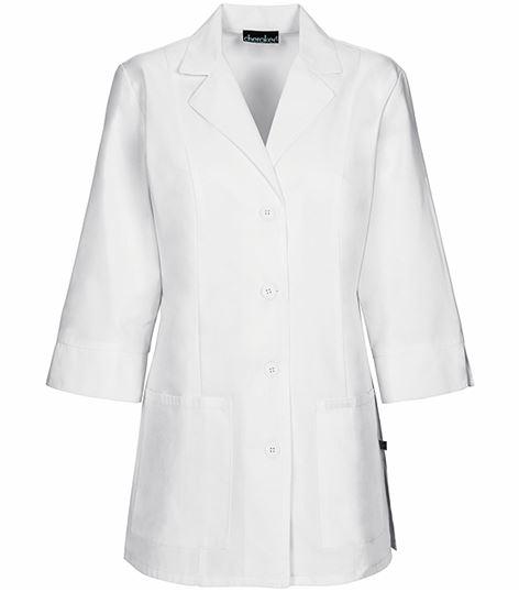 """Cherokee Women's 30"""" 3/4 Sleeve White Lab Coat-1470"""