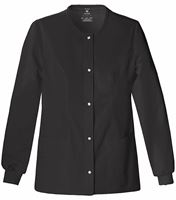 Cherokee Luxe Women's Snap Front Warm-Up Scrub Jacket-1330