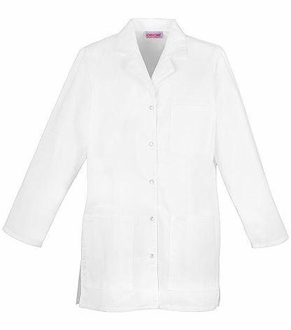 "Cherokee Women's 32"" Snap Front White Lab Coat-1369"