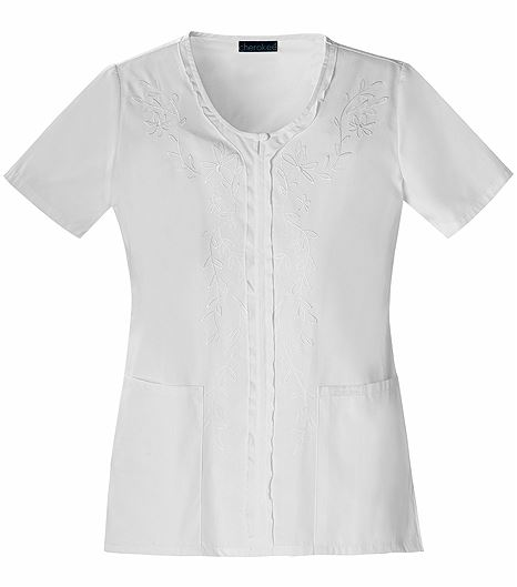 Cherokee V-neck Embroidered Top 1848
