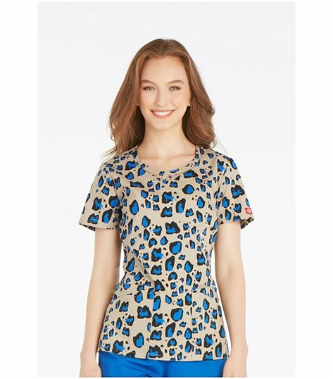 544c3a32326 Dickies EDS Women's Round Neck Printed Scrub Top-85840C | Medical Scrubs  Collection