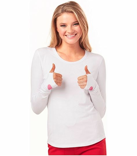 HeartSoul Women's Long Sleeve Underscrub Knit Tee-HS607