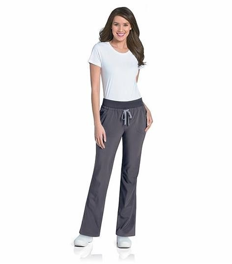Urbane KNIT/WOVEN WIDE WAISTBAND CONVERTIBLE PANT 9317