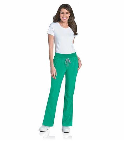 Urbane Women's Elastic Waist Yoga Scrub Pants-9317