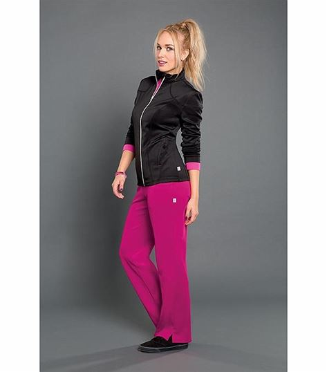 Smitten Women's Zip Up Warm-Up Scrub Jacket-S303009