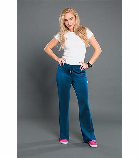 Smitten Women's Drawstring Flare Leg Yoga Scrub Pants-S201018