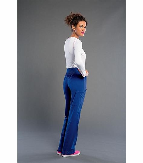 Smitten Women's Elastic Waist Yoga Cargo Scrub Pants-S201019