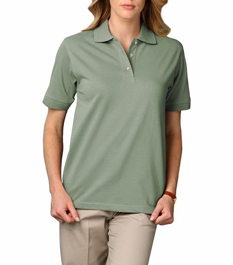 WOMEN'S SHORT SLEEVE 'SUPERBLEND' PIQUE POLO BG6204