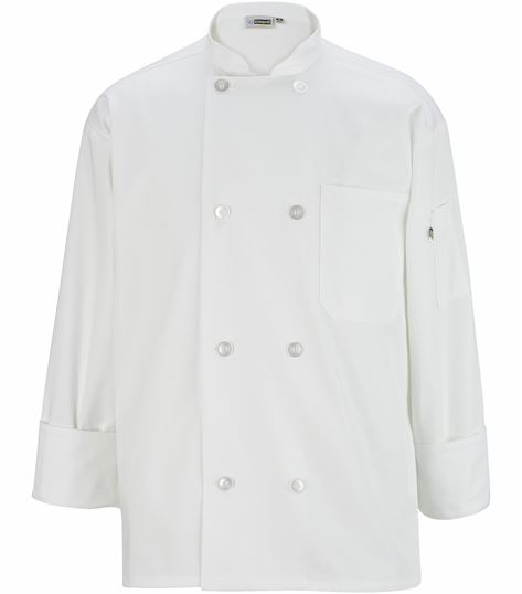 UNISEX 8 BUTTON TWILL CHEF COAT EW3300