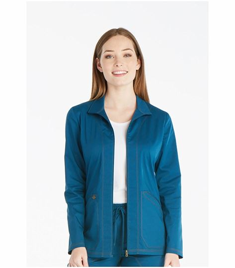 Dickies Essence Women's Zip Front Warm-up Scrub Jacket-DK302