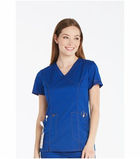 Dickies Essence Women's  Mock Wrap Solid Scrub Top-DK804