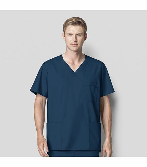 Wonderwink Wonderwork Men's Multi Pocket Scrub Top-103