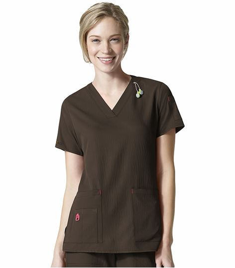 Carhartt Crossflex Women's V-Neck Solid Scrub Top-C12110