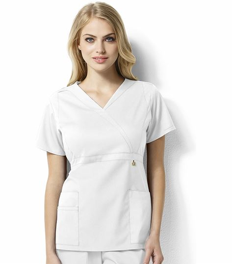 WonderWink Next Women's Mock Wrap Empire Waist Scrub Top-6219
