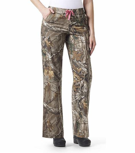 Carhartt Women's Camouflage Drawstring Cargo Scrub Pants-C52405