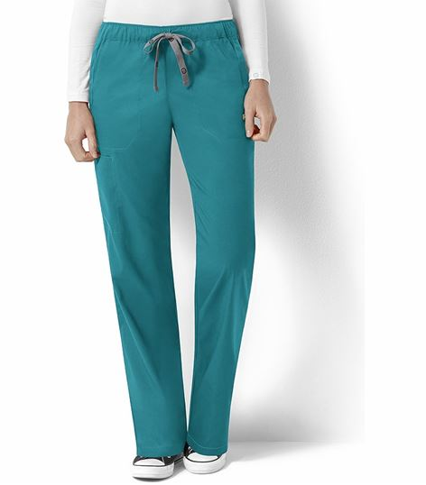 WonderWink Next Women's Elastic Drawstring Cargo Scrub Pants-5119