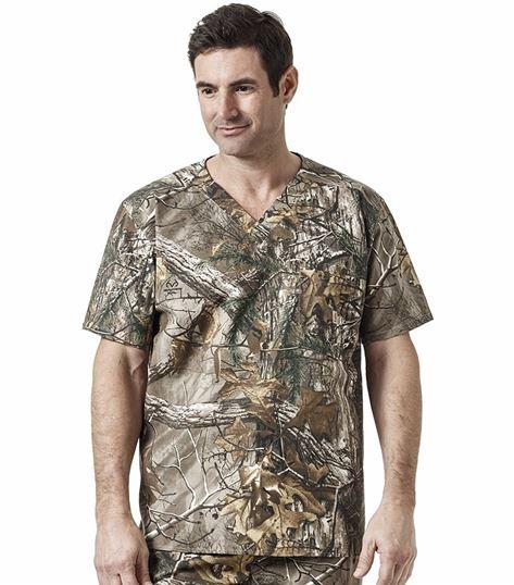 Carhartt Men's Camouflage Printed Scrub Top-C15405